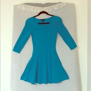 Between blue and teal skater dress